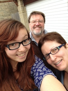 WIth the parents before leaving for my current trip!