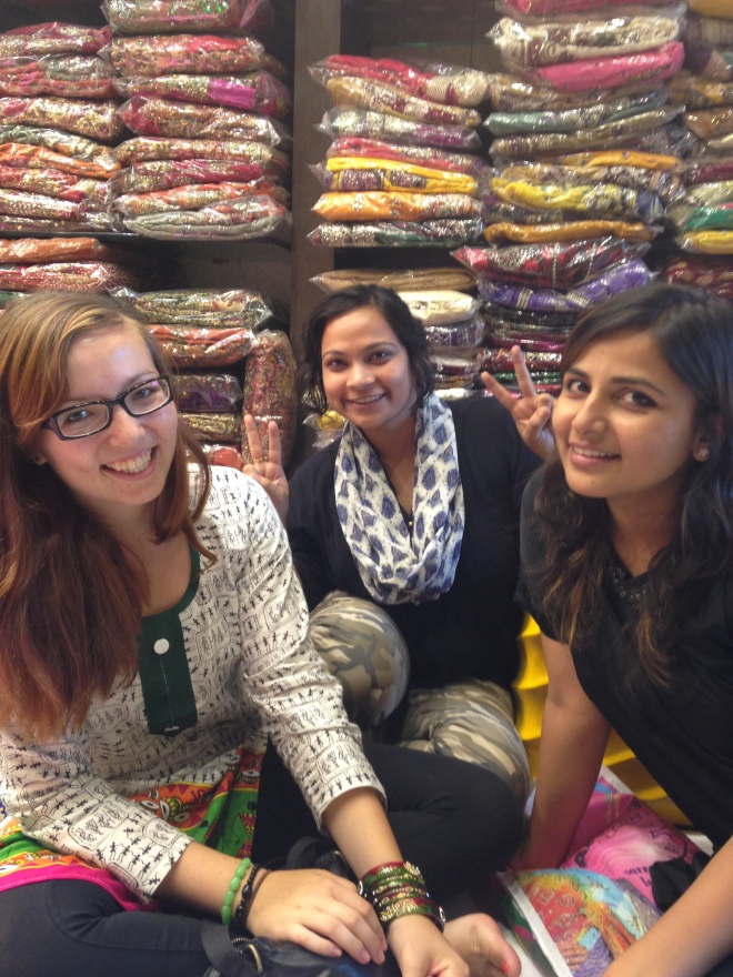Saree shopping with Misha and Achala