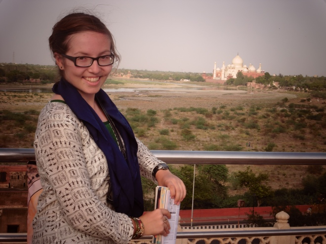 Lovely view of the Taj from the Agra Fort